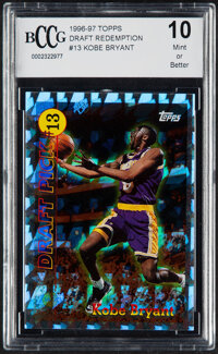 1996 Topps Draft Redemption Kobe Bryant #13 BCCG 10 Mint or Better