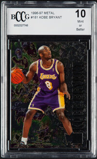 1996 Metal Kobe Bryant #181 BCCG 10 Mint or Better