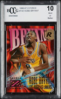 Basketball Cards:Singles (1980-Now), 1996 Skybox Z-Force Kobe Bryant #142 BCCG 10 Mint or Better....