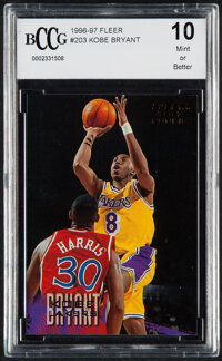 1996 Fleer Kobe Bryant #203 BCCG 10 Mint or Better