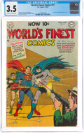 Golden Age (1938-1955):Superhero, World's Finest Comics #71 (DC, 1954) CGC VG- 3.5 Off-white to white pages....