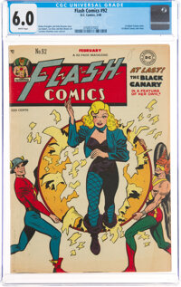 Flash Comics #92 (DC, 1948) CGC FN 6.0 White pages