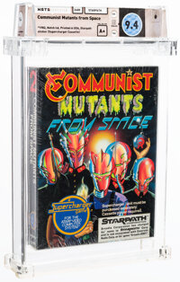 Communist Mutants from Space - A+ Sealed [1982 Black box], 2600 Starpath 1982 USA