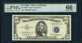 Small Size:Silver Certificates, Fr. 1656* $5 1953A Silver Certificate Star. PMG Gem Uncirculated 66 EPQ.. ...