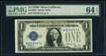 Small Size:Silver Certificates, Fr. 1602* $1 1928B Silver Certificate Star. PMG Choice Unc...