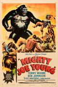 Movie Posters:Horror, Mighty Joe Young (RKO, 1949). Very Fine- on Linen....