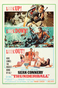 """Movie Posters:James Bond, Thunderball (United Artists, 1965). Folded, Very Fine/Near Mint. One Sheet (27"""" X 41"""") Cut Jetpack Style, Frank McCarthy and..."""