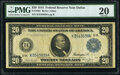 Large Size:Federal Reserve Notes, Fr. 1005 $20 1914 Federal Reserve Note PMG Very Fine 20.. ...