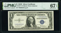 Small Size:Silver Certificates, Fr. 1615* $1 1935F Silver Certificate Star. *-G Block. PMG...
