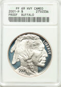 Modern Issues, 2001-P $1 Buffalo Silver Dollar PR69 Heavy Cameo ANACS....