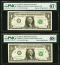 Small Size:Federal Reserve Notes, Radar Serial Number 14155141 and Repeater Serial Number 14...