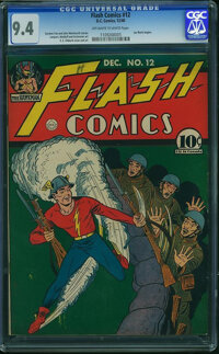 Flash Comics #12 - JAMIE GRAHAM/GRAHAM CRACKERS COMICS COLLECTION (DC, 1940) CGC NM 9.4 Off-white to white pages