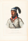 Books:Prints & Leaves, [Thomas L. McKenney and James Hall]. Hand-Colored Portrait...