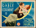 """Movie Posters:Academy Award Winners, It Happened One Night (Columbia, R-1937). Fine/Very Fine. Autographed Title Lobby Card (11"""" X 14"""").. ..."""