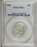 Proof Barber Quarters: , 1902 25C PR61 PCGS. . PCGS Population (13/174). NGC Census: (3/185). Mintage: 777. Numismedia Wsl. Price for NGC/PCGS coin ...