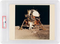 Explorers:Space Exploration, Apollo 11 Vintage NASA Color Photo, Image AS11-40-5927, PSA Authenticated and Encapsulated with Certification Number 84316668....