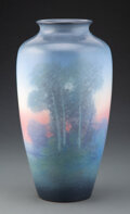 Ceramics & Porcelain, A Rookwood Pottery in Vellum Glaze Vase Decorated by Edward Timothy Hurley, 1923. Marks: (addorsed RP cipher), XXIII, ...