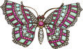 Estate Jewelry:Brooches - Pins, Diamond, Ruby, Opal, Silver-Topped Gold Brooch ...
