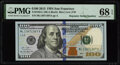 Small Size:Federal Reserve Notes, Repeater Serial Number 13671367 Fr. 2188-L $100 2013 Federal Reserve Note. PMG Superb Gem Unc 68 EPQ.. ...