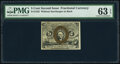 Fr. 1232 5¢ Second Issue PMG Choice Uncirculated 63 EPQ
