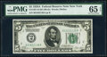 Fr. 1951-B $5 1928A Federal Reserve Note. PMG Gem Uncirculated 65 EPQ