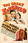 """Movie Posters:Academy Award Winners, The Great Ziegfeld (MGM, 1936). Very Fine- on Linen. One Sheet (27"""" X 41""""). Style D, Ted """"Vincentini"""" Ireland Artwork.. ..."""