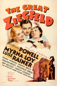 """The Great Ziegfeld (MGM, 1936). Very Fine- on Linen. One Sheet (27"""" X 41""""). Style D, Ted """"Vincentini""""..."""