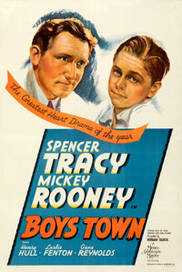 """Boys Town (MGM, 1938). Very Fine+ on Linen. One Sheet (27.5"""" X 41"""") Style C"""