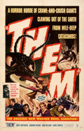 """Movie Posters:Science Fiction, Them! (Warner Bros., 1954). Fine+ on Linen. One Sheet (27"""" X 41.5"""").. ..."""