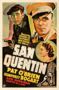 """San Quentin (Warner Bros., 1937). Fine+ on Linen. Other Company One Sheet (27"""" X 41"""")"""