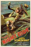"""Movie Posters:Crime, The Night Ride (Universal, 1930). Very Fine on Linen. One Sheet (27"""" X 41"""").. ..."""