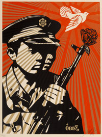Shepard Fairey (b. 1970) Chinese Soldiers, 2006 Screenprint in colors on speckled cream paper 24 x 18 inches (61 x 45