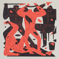 Cleon Peterson (b. 1973) To Tell the Truth, 2018 Screenprint in colors on Heavy Coventry Rag paper