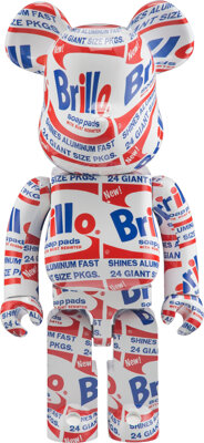 BE@RBRICK X The Andy Warhol Foundation for the Visual Arts Brillo 1000%, 2020 Painted cast resin 28 x 14 x 9 inches (