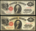 Fr. 38 $1 1917 Legal Tender Fine; Fr. 39 $1 1917 Legal Tender Fine. ... (Total: 2)