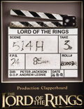 Movie/TV Memorabilia, Cast-signed, Production-used clapperboard from The Lord of the Rings: The Fellowship of the Rings....