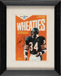 Football Collectibles:Photos, 1980's Walter Payton Signed Wheaties Display. ...