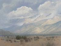 Curt Walters (American, b. 1950) Sandia Mountains, New Mexico Oil on canvas 30 x 40 inches (76.2