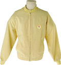 Music Memorabilia:Costumes, Dean Martin Sands Hotel and Casino Casual Jacket. A vintage casualjacket with yellow-and-white hound's tooth pattern and S...