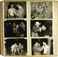 """Movie/TV Memorabilia:Photos, Emile LaVigne Photo Scrapbook For Various Films. A 12"""" x 12"""" photo album totaling 16 pages and more than 100 b&w and color s..."""