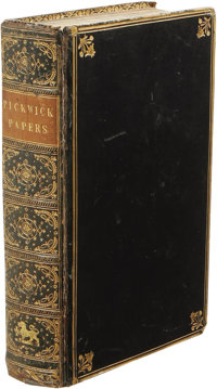 Charles Dickens: The Posthumous Papers of the Pickwick Club. (London: Chapman and Hall, 1837), first edition, mixed stat...