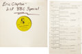 """Music Memorabilia:Recordings, Eric Clapton Promo LP Group 2 (1984-87). A must for """"Slowhand"""" fans! Included are """"BBC Eric Clapton Special"""", a 2-disc set a... (Total: 2 )"""