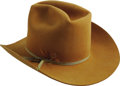Music Memorabilia:Costumes, Tanya Tucker Owned & Signed Hat. A rust-colored Western hat by Bailey, owned and worn by singer Tanya Tucker, signed by her ...