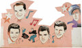 """Music Memorabilia:Props, """"American Bandstand"""" Set Backdrops. A set of eight colorfulbackdrop decorations used on the set of Dick Clark's long-runnin...(Total: 8 Items)"""
