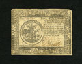 Colonial Notes:Continental Congress Issues, Continental Currency February 17, 1776 $5 Fine-Very Fine. This wellinked note exhibits one very hard fold and rounded corne...