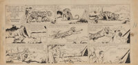 Alex Raymond original Sunday comic strip artwork for Jungle Jim #1 – the origin and first appearance of the popular jung...