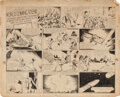 Original Comic Art, Alex Raymond original Sunday comic strip artwork for Flash Gordon #1 – the origin and first appearance of arguably the greates...