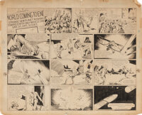 Alex Raymond original Sunday comic strip artwork for Flash Gordon #1 – the origin and first appearance of arguably the g...