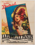 Movie/TV Memorabilia, Marlene Dietrich French grande poster for The Devil is a Woman....