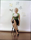 """Movie/TV Memorabilia, Collection of (5) color camera transparencies of Marilyn Monroe from """"Bauman"""" sitting by Milton Greene. ..."""
